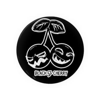Black Cherry Tin Badge