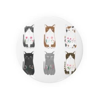 6匹の猫ちゃん Badge