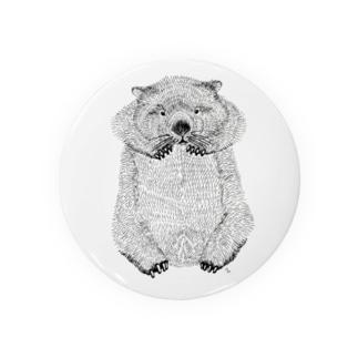 wombat(ペン画) Tin Badge