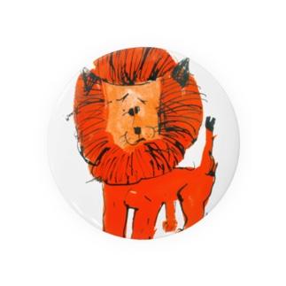 ひとみしり!ライオン Badges