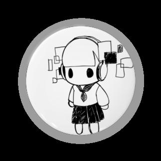 サワダモコ Moco Sawadaのヘッドホン少女ぬいぐるみちゃん Badges