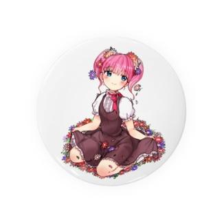 花と女の子 Badges