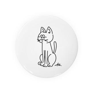 白ネコのじろり Badges