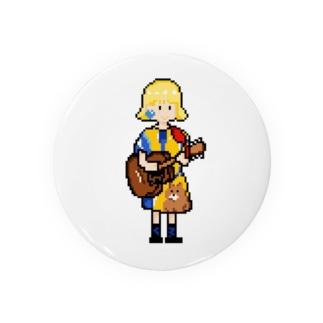 ギター少女 Tin Badge