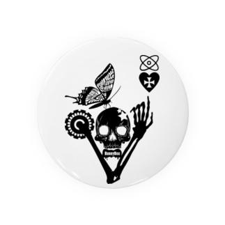 バタフライスカル・マイハート Badges