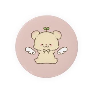 ちびくまちゃん(pink) Tin Badge