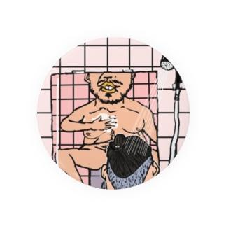風呂のイス高め 缶バッジ