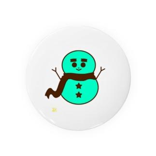 チョコミント色の雪だるま Badges