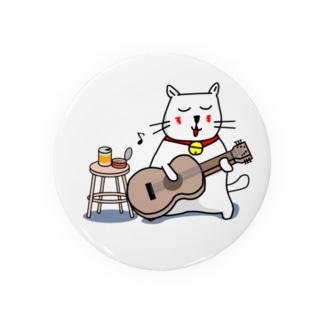 白猫のネコ先輩 ギターぽろろん Badges