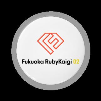 💎福岡Ruby会議02💎の福岡Ruby会議 ロゴ(文字入り) 缶バッジ