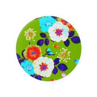 Colorful Rose (Yellow green) Badges