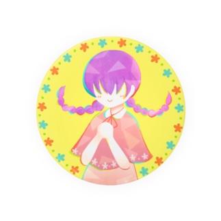 「Flower」75mm【ほんわかちゃん】 Badges