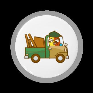 コメビツくんのピカリくんの小型トラック 缶バッジ