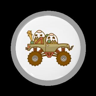 コメビツくんのガパオ族のモンスタートラック 缶バッジ