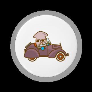 コメビツくんのイカメシくんのオープンクラシックカー Badges