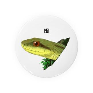 顔を出す蛇の缶バッジ(大きいサイズ推奨) 缶バッジ