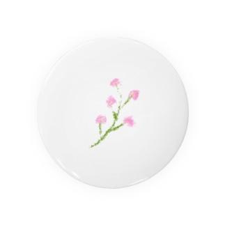 ピンクの小さいお花 Badges