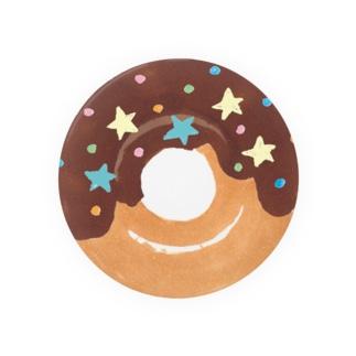 溝呂木一美のお店のドーナツ:チョコレート(半分グレーズ) Badges