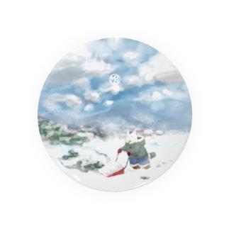雪景色とぶち猫さん缶バッジ(大きいサイズ推奨) Badges