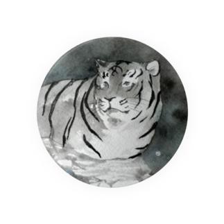 入り浸る虎の缶バッジ(大きいサイズ推奨) Badges
