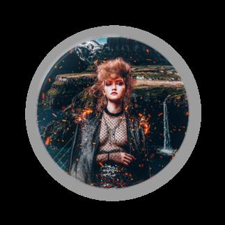 BUENA VIDAのFIRE back 01缶バッジ