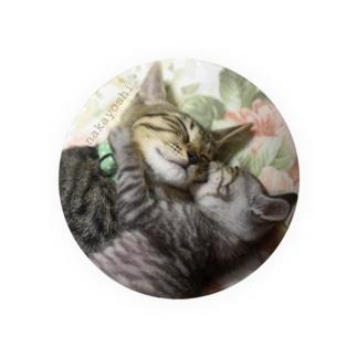 猫ドМさん専用猫グッズのお店 びーにゃんくらぶの2016保護猫 仲良し★エレキ&テル Badges