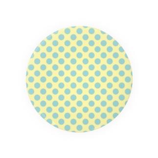 水玉 青緑+背景卵色 Badges