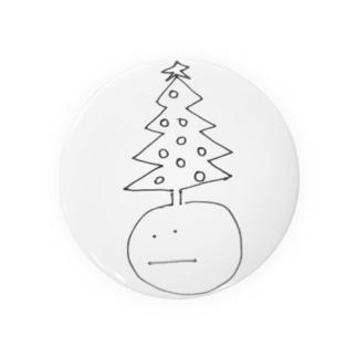 Christmas tree man  缶バッジ
