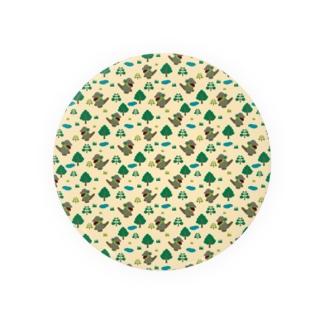 モッコメリアンパターン-緑 缶バッジ