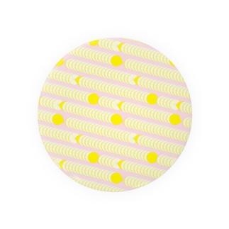レモンのパターン 缶バッジ