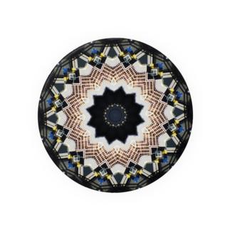 万華鏡:都市のイメージ Kaleidoscope pattern 缶バッジ