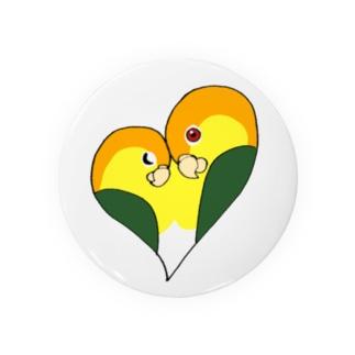 シロハラインコカップル Badges