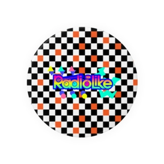 Radio Lile hmm...オリジナルロゴ(市松模様) 缶バッジ
