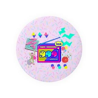 Radio Lile hmm...オリジナルロゴ(ラジオとごちゃごちゃ) Badges