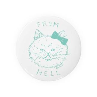 ねこ from hell (green) Badges