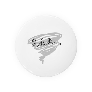 晴田書店の台風来い Badges