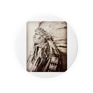 手描きインディアン Badge