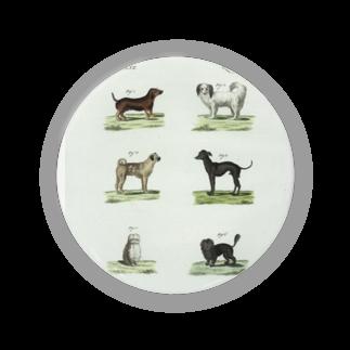 J. Jeffery Print Galleryの1802年ドイツの犬たち 缶バッジ