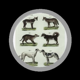 J. Jeffery Print Galleryの1802年ドイツの犬たち缶バッジ