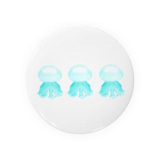 クラゲ ルテウムジェリー(水色・3連) Badges