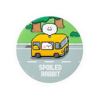 Spoiled Rabbit - Pixel Bus / あまえんぼうさちゃん ドットアートバス 缶バッジ