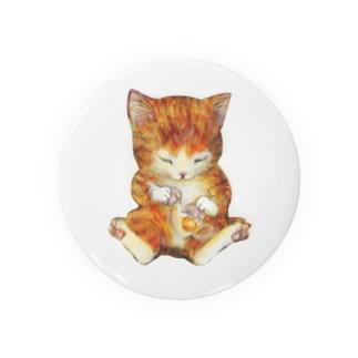 猫の手もかりるよ。卵をわる子猫 Badges