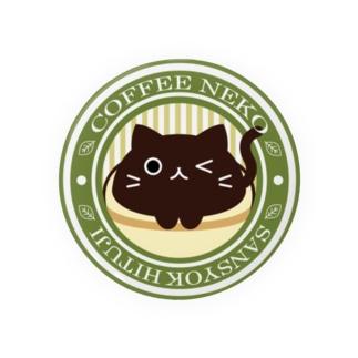 コーヒーねこ Caféマーク 缶バッジ