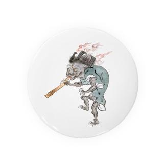百鬼夜行絵巻 五徳の付喪神【絵巻物・妖怪・かわいい】 Badges