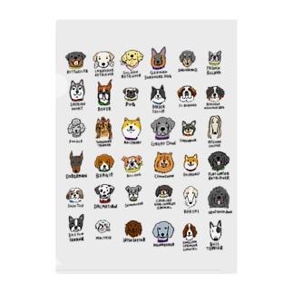 犬たくさん Clear File Folder