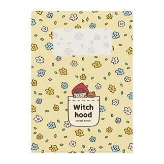 Witch hood のクリアファイル Clear File Folder