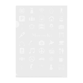 MORINOK-I-CON Clear File Folder