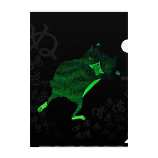 暗がりに怯え…る猫 Clear File Folder