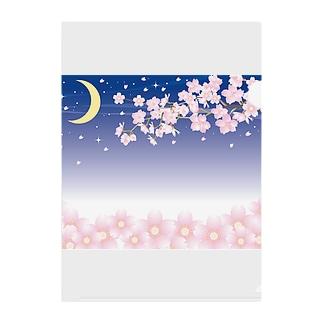 春の夜の Clear File Folder