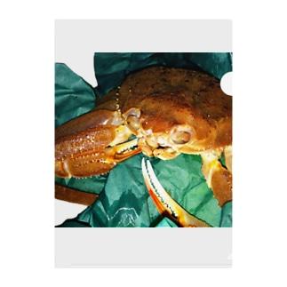 新鮮な蟹 Clear File Folder